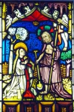 «Christ appears to Mary Magdalene, sixteenth-century stained glass window, presented to the Society by Hans Reinhardt.