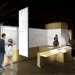 Fitting-out of a display area for medieval architects' drawings in the Cathedral Workshop Museum. Design : Ballast architects ; Display: N. Moutinho.